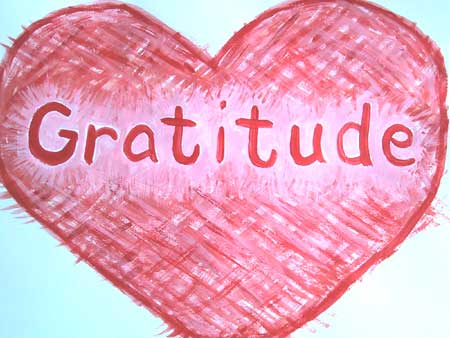 gratitude heart drawn